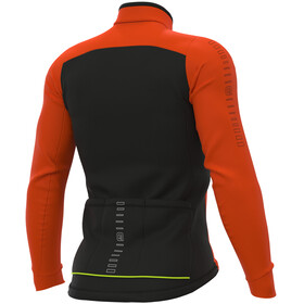 Alé Cycling Solid Fondo Maillot À Manches Longues Homme, fluo orange